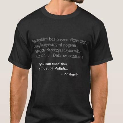 T-shirt wykrywacz Polaków